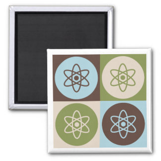 Pop Art Nuclear Engineering Square Magnet