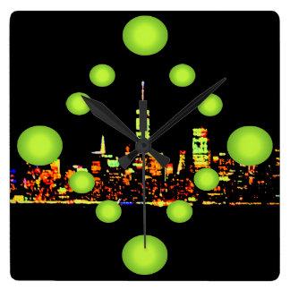 Pop Art NYC Night City New York Wall Clock
