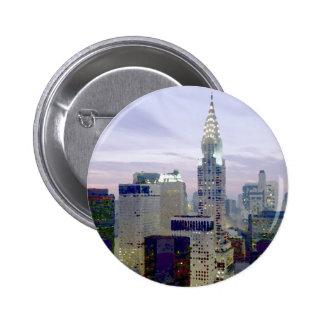 Pop Art Oil Paint Effect New York 6 Cm Round Badge