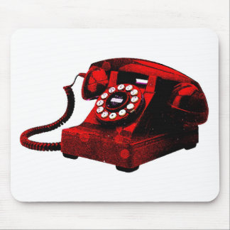 Pop Art Old Desk Telephone Box Mouse Pad
