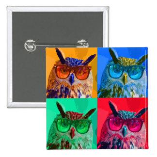 Pop art Owl Pin