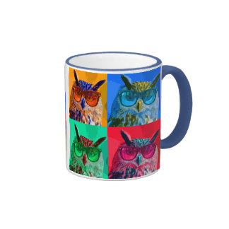 Pop art Owl Coffee Mugs