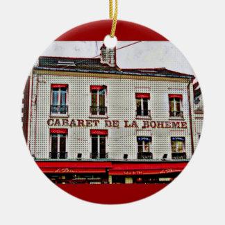 Pop Art Paris Round Ceramic Decoration