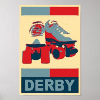 Pop Art  Patriotic Derby Canvas Print