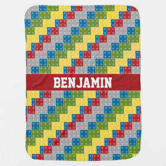 Pop Art Pattern Colorful Bricks for Boys Baby Blanket
