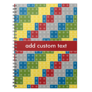 Pop Art Pattern Colorful Bricks for Boys Notebooks