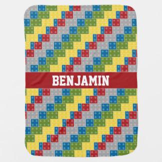 Pop Art Pattern Colorful Bricks for Boys Receiving Blanket