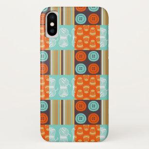 Pop-art pattern - sewing iPhone x case