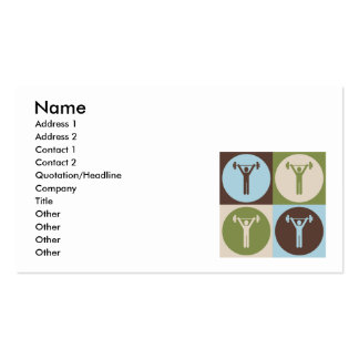 Pop Art Personal Training Business Card Template