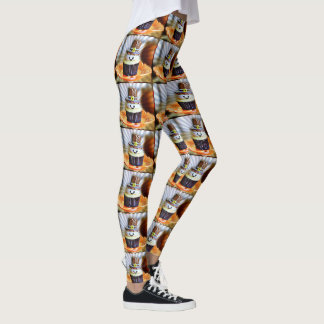 Pop Art Pilgrim Cupcakes Leggings