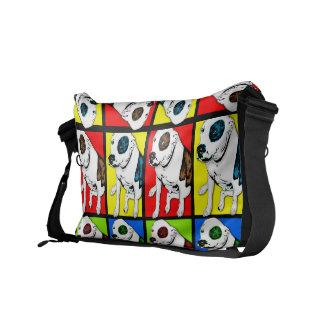 Pop Art Pit Bull Courier Bag