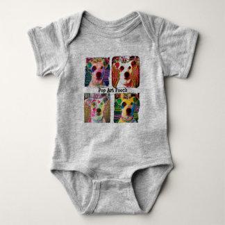 Pop Art Pooch baby romper Baby Bodysuit