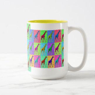 Pop Art Popart Walking Giraffe Multi-Color Coffee Mug