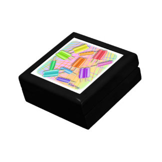 POP ART POPSICLES SMALL SQUARE GIFT BOX