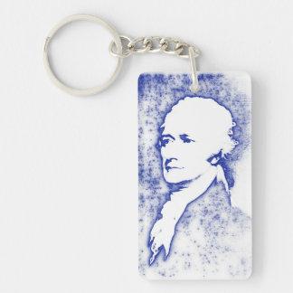 Pop Art Portrait Alexander Hamilton Single-Sided Rectangular Acrylic Key Ring