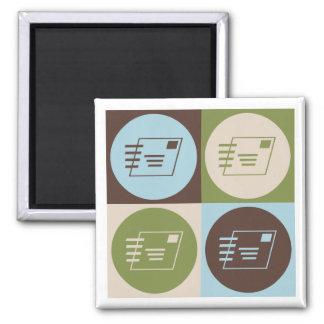 Pop Art Postal Service Fridge Magnets