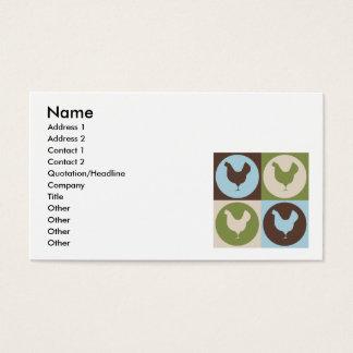 Pop Art Poultry Business Card