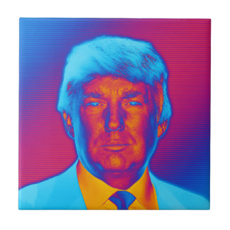 Pop Art President Trump Tile