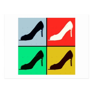 Pop Art Pumps Postcard