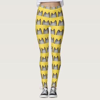 Pop Art PussyCat Yellow Leggings