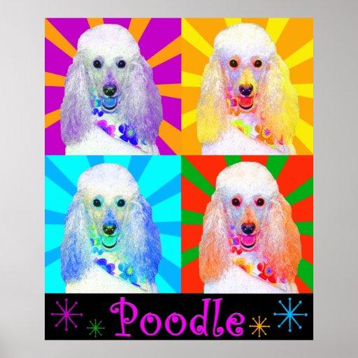 Pop Art Quad Miniature Poodle Print