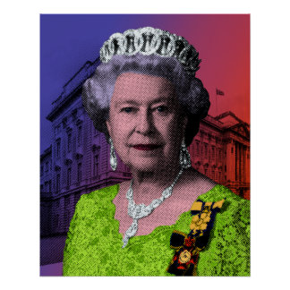 Pop Art Queen Elizabeth II