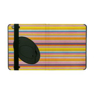 Pop Art Rainbow Stripes Bold Colorful Mod Stripe iPad Cases