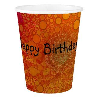 Pop Art Red Orange Gerbera Daisy Paper Cup