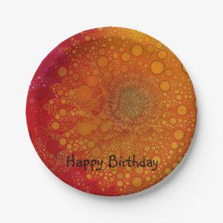 Pop Art Red Orange Gerbera Daisy Paper Plate