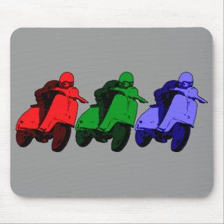 Pop Art RGB Scooter racer Mousepad