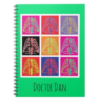 Pop Art Ribs Spiral Notebook