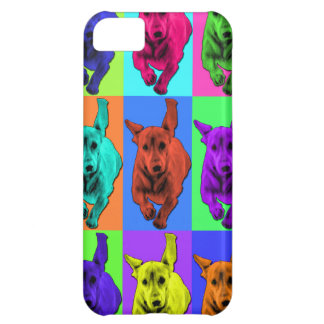 Pop Art Running Dachshund Ears Flapping iPhone 5C Case