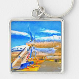 Pop Art Russian Airliner Key Ring