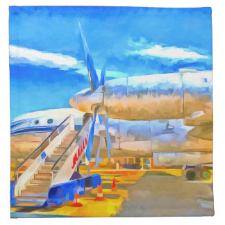 Pop Art Russian Airliner Napkin