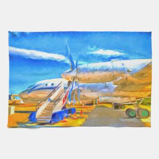 Pop Art Russian Airliner Tea Towel