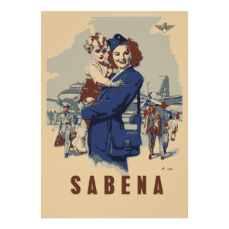 Pop art Sabena Ex Belgian Airlines Poster