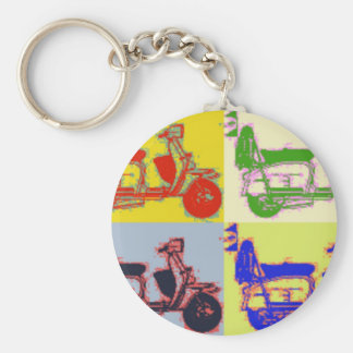 POP ART SCOOTER KEY RING