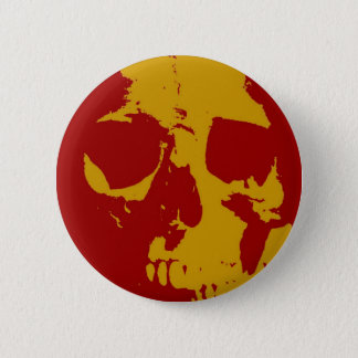 Pop Art Skull 6 Cm Round Badge