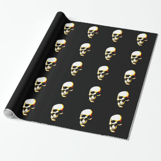 Pop Art Skull Christmas Wrapping Paper
