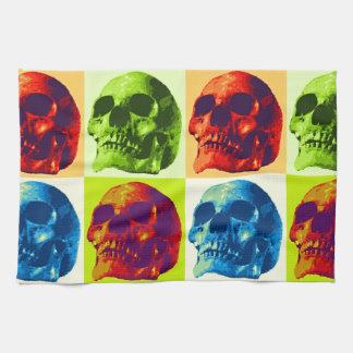 Pop Art Skull Hand Towels