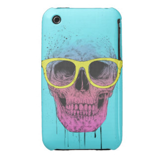 Pop art skull with glasses iPhone 3 Case-Mate case