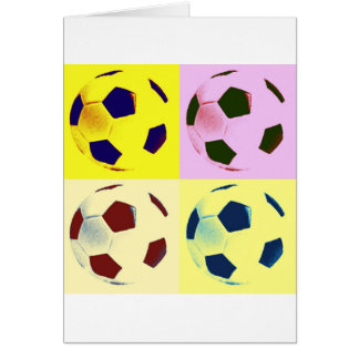 Pop Art Soccer Balls Greeting Card