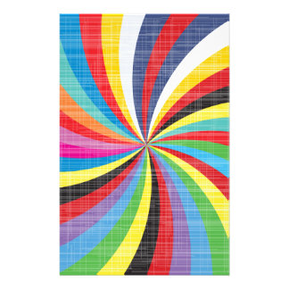 Pop Art Spiral Customised Stationery