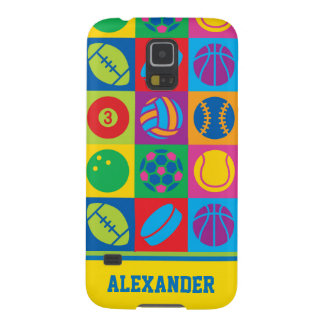 Pop Art Sports Balls Case For Galaxy S5