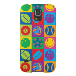Pop Art Sports Balls Galaxy S5 Case