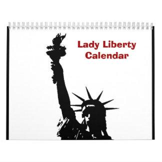 Pop Art Statue of Liberty 2018 Calendar