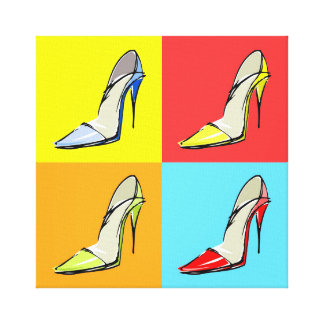 Pop Art Stilettos Wrapped Canvas Fashion Print