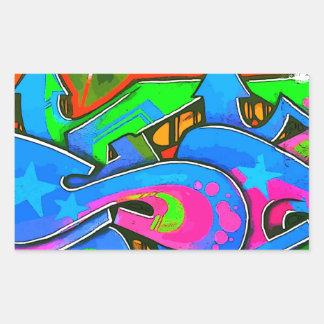 Pop Art Street Graffiti Wall Design 1 Rectangle Sticker