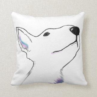 Pop art style bold design, Large Bullterrier face Cushion