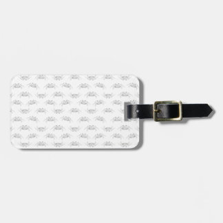 Pop Art Style Crabs Motif Pattern Luggage Tag